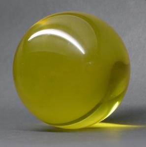 Acrylic ball Cristal 100 mm geel