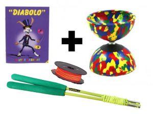 Diabolo Beginners Set Fiber met reserve diabolotouw
