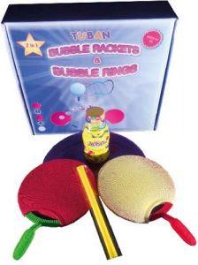 Tuban Zeepbellen Rackets + 250 ml professioneel zeepbellensop