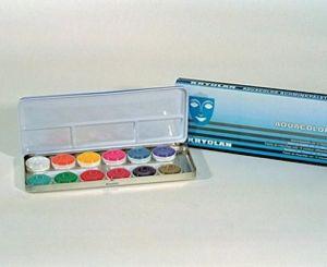 Kryolan 12 kleurige schminkdoos
