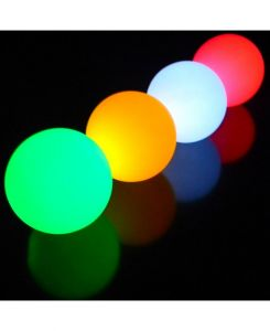 LED-jongleerballen 68 mm 155 gram per bal