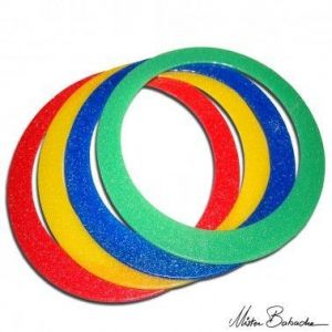 Mr. Babache Glitter jongleerring standaard 32 cm