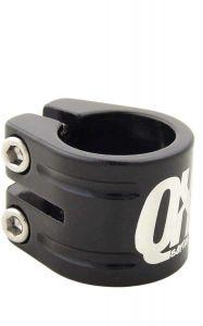 QX Dubbele Zadelklem 31,8 mm voor een 27,2 mm zadelpen zwart