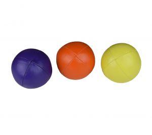 Set van 3 Mr. Babache standaard beanbag Jongleerbal - 130 gram - paars - geel - oranje