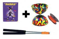 Diabolo Beginners Set Alu met reserve touw