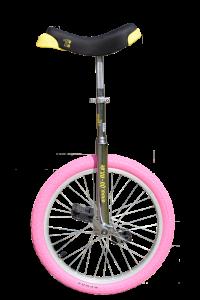 Qu-ax Luxus 20 inch Eenwieler Chroom met gekleurde band